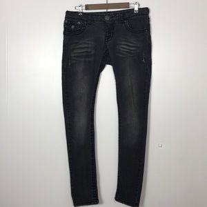 True Religion Billy Super T Black Skinny Jeans